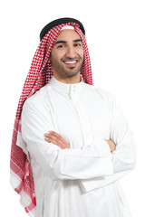 Arab saudi emirates man posing with folded arms