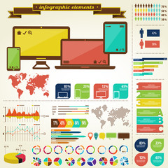 IT technology infographic elemenys