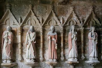 Ancient statues in XIII century La chapelle de Kermaria