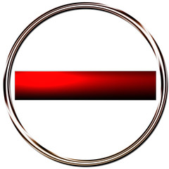 Bouton web vierge rond rouge