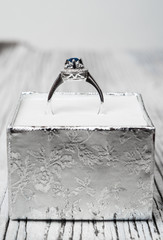 Wedding rings in a gift box