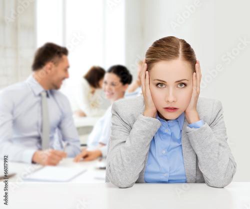 stressed businesswoman - 66017992