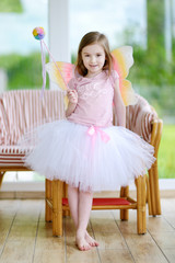Little girl dressed as fairy