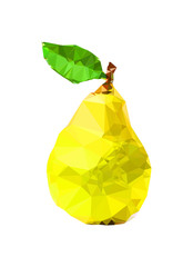 Polygonal yellow Pear Illustration