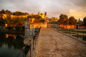 Avignon at sunset, France