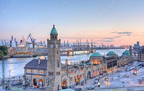 Fotobehang Poort Hamburger Hafen