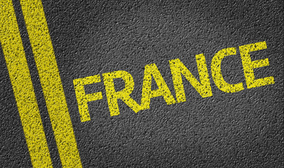 France written on the road
