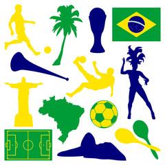 Vector Set Brazil & Soccer