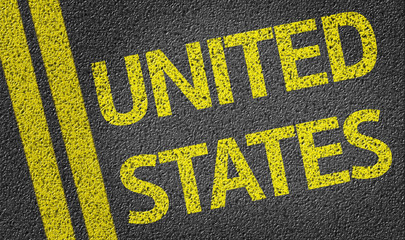 United States written on the road