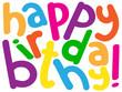 "HAPPY BIRTHDAY"" Card (message congratulations party)"