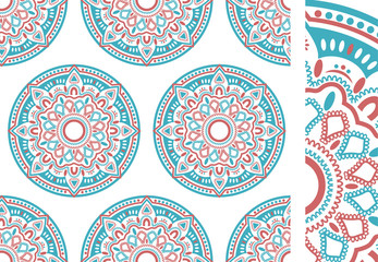 Seamless ethnic pattern illustration vector