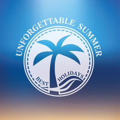 unforgettable summer best holidays badge