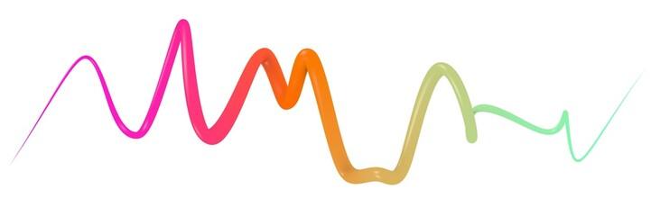 Scarabocchio curva linea 3d ondulata