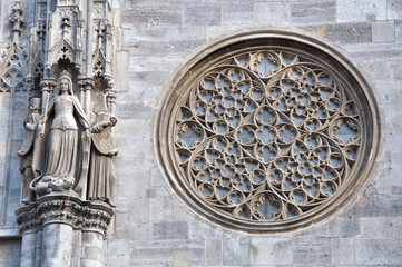 St Stephan's cathedral, Statue of Katharina and Rosette, Vienna