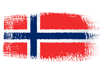 brushstroke flag Norway
