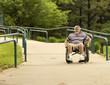 using a concrete wheelchair access ramp