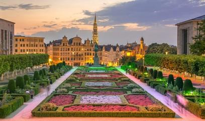 Bruxelles vue du Jardin du Mont des Arts