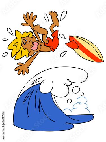 サーフィン失敗