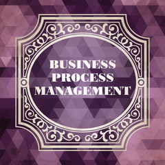 Vintage Business Process Management Concept.