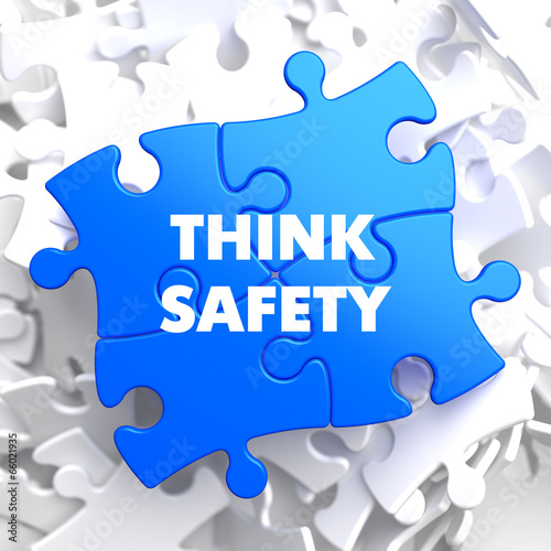 Think Safety on Blue Puzzle. - 66021935