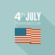 American Independence Day  Patriotic background. Flat design