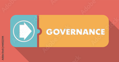 Governance on Scarlet in Flat Design.