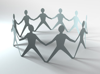 people team in a circle