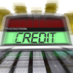 Credit Calculated Means Loan Money And Financing