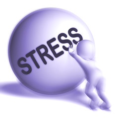 Stress Uphill Sphere Shows Tension And Pressure