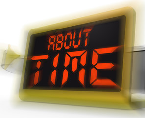 About Time Digital Clock Shows Late Or Overdue