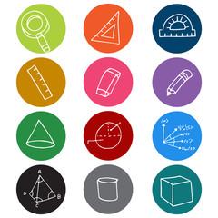 Geometry Icon Symbols