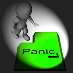 Panic Keyboard Means Alarm Distress And Dread