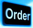 Order Sign Shows Buying Online In Web Stores
