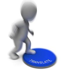 Translate Pressed Shows Interpreting Converting Or Explaining