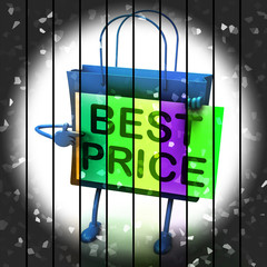 Best Price Shopping Bag Represents Bargains and Discounts