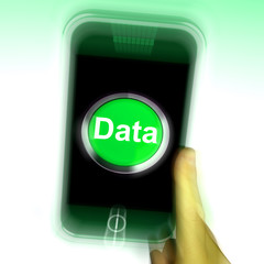 Data Mobile Shows Documents Information And Cloud