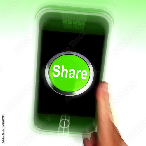 Share Mobile Means Online Sharing And Community