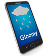 Gloomy On Mobile Shows Dark Grey Miserable Weather