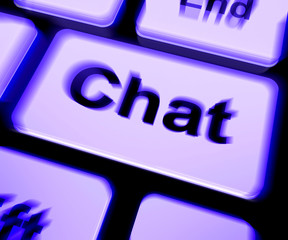 Chat Keyboard Shows Talking Typing Or Texting