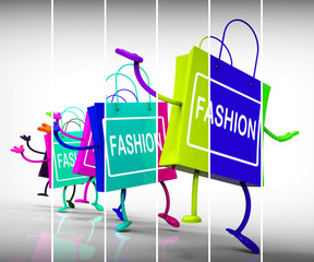 Fashion Shopping Bags Represent Trends, Shopping, and Designs