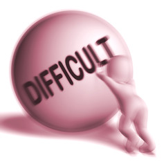 Difficult Sphere Means Hard Challenging Or Problematic