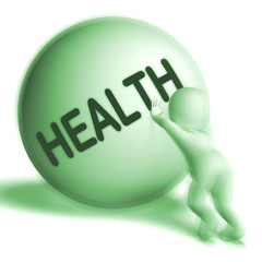 Health Uphill Sphere Shows Healthy Medical Wellbeing