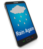 Rain Again On Mobile Shows Wet  Miserable Weather poster