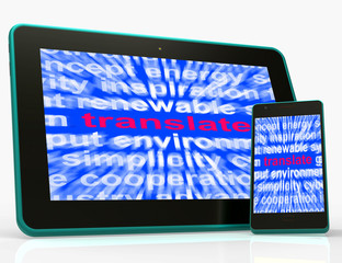 Translate Tablet Means Converting To Another Language