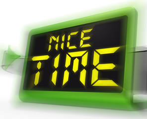 Nice Time Digital Clock Means Enjoyable And Pleasant Experience