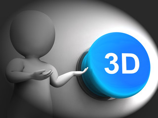 3d Pressed Means Three Dimensional Object Or Image