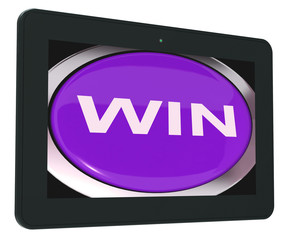 Win Switch Shows Success Winner Victory And Champion
