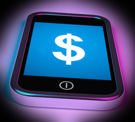 Dollar Sign On Mobile Shows $ Currency