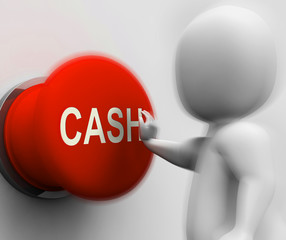 Cash Pressed Shows Money Earning And Spending