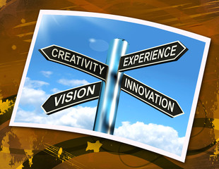 Creativity Experience Innovation Vision Sign Means Business Deve